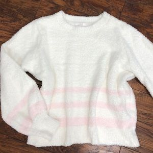 NEW Lauren Conrad fuzzy teddy bear sweater XL